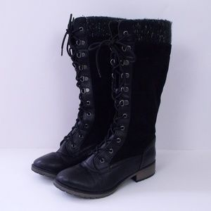 Report Black Micky Lace Up Boots